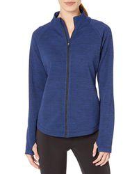 Amazon Essentials Fleece Lined Full-zip Mockneck Jacket Navy Spacedye - Blue