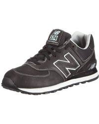 New Balance 574 Sport Trainers in Black for Men Lyst