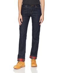 Carhartt Size Original Fit Blaine Flannel Lined Jean - Blue