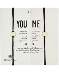 Dogeared - S Friendship Sparkle Ring Bracelet Set - Lyst