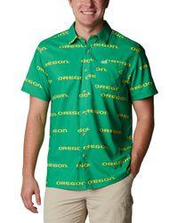 Columbia Collegiate Super Slack Tide Shirt Camicia con Bottoni - Verde