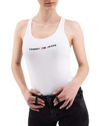 Tommy Hilfiger , Logoed Bodysuit, White, Tmh_dw0dw08004ybr - M