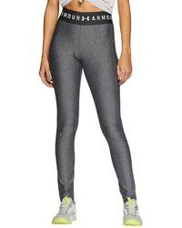 Under Armour Womens Heatgear Gym Training Full Length Tight Leggings - Grey (xs)