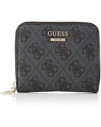 Guess Open Road SLG SMALL Zip Around Klassisch - Schwarz