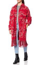 Replay W7685 .000.52468 Dress Coat - Red