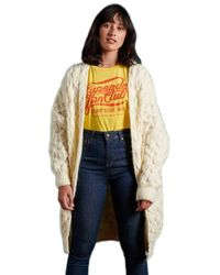 Superdry Grace Oversized Cable Cardigan Pull - Multicolore