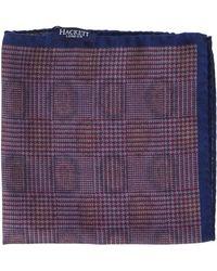 Hackett Pine And Pow Hank Handkerchief - Purple