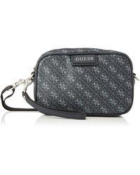 Guess Dan Logo Small Necessaire Bags Briefcase - Black
