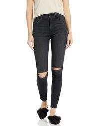 The Drop Fairfax Jean 7/8 skinny taille haute pour - Noir