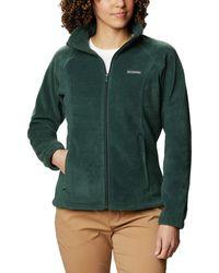 Columbia Plus Size Benton Springs Full Zip Fleece Jacket - Green