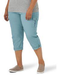 Lee Jeans Flex-to-Go Mid Rise Cargo Capri Pant - Blu