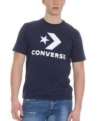 Converse Star Chevron T-Shirt Dark Navy - Blu