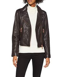best service ade67 89b7b Giubbotti Filipa Leather Jacke Cappotto Donna - Marrone