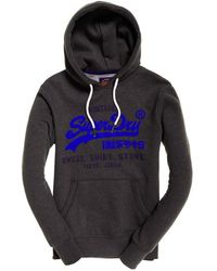 Superdry Sweat Shirt Shop Duo Hood Kapuzenpullover - Grau