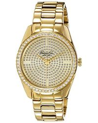 Kenneth Cole - Kc4957 Crystal-accented Gold-tone Watch - Lyst