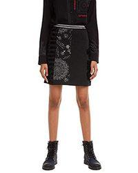 Desigual Skirt Craig Falda para Mujer - Negro