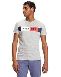 6750f29d Tommy Hilfiger Colour-blocked Flag T-shirt in White for Men - Save 3 ...