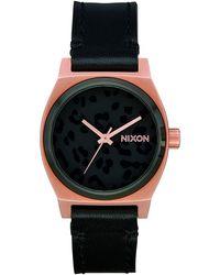 Nixon Medium Time Teller Leather A1172 Watch - Multicolour