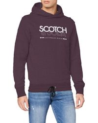 Scotch & Soda - Hoodie mit Logo-Print - Lyst
