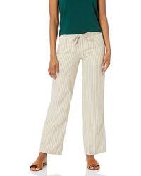 Amazon Essentials Linen Blend Drawstring Wide Leg Pants - Natur