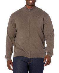 Amazon Essentials Full-zip Cotton Jumper - Brown