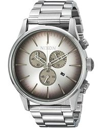 Nixon - 'sentry Chrono' Quartz Stainless Steel Casual Watch, Color:silver-toned (model: A3862564-00) - Lyst