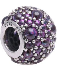 PANDORA Charms 791755CFP Pendentif en forme de goutte scintillante en argent 925 et zircones Violet