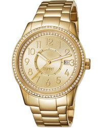 Esprit Glamonza Quartz Watch With Gold Dial Analogue Display And Gold Stainless Steel Bracelet Es105432007 - Metallic