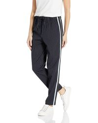 BCBGMAXAZRIA Striped Drawstring Jogger Pant - Blue