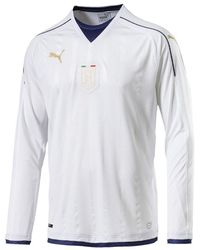 PUMA Mens Gents Football Soccer Italy Tribute 2006 Away Shirt Jersey Long Sleeve - L - White