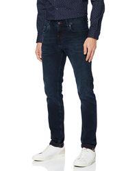 Tommy Hilfiger Extra Slim Layton Str Burke Blue Straight Jeans - Bleu