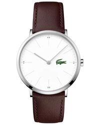 Lacoste S Analogue Classic Quartz Watch With Leather Strap 2010968 - White