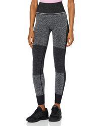AURIQUE Amazon-Marke: Sportleggings mit hohem Bund und Colour-Block-Design - Schwarz