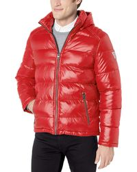 Guess Mid Weight Puffer Jacket - Red