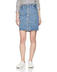 Levi's Button Thru Mom Skirt Falda - Azul