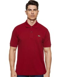 Lacoste - Polo, , L1212, Bordeaux, XL - Lyst