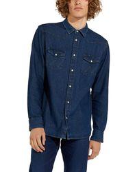 Wrangler Icons Shirt - Blu