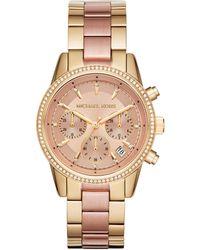 Michael Kors Ritz Gold-tone Watch Mk6475 - Metallic