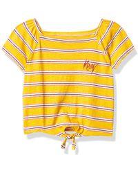 Roxy Apple Juice Tie Front Tee T-Shirt - Gelb