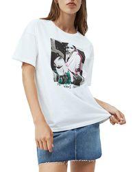 Pepe Jeans - Maglietta Aria bianca da donna bianco M-L - Lyst