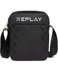 Replay Fm3493 Satchel Bag - Black