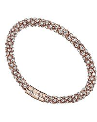 Guess S Ladies Jewellery Ubb81334 Glamazon Glisten Rose Gold Tone Bangle - Metallic