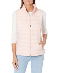 Amazon Essentials Lightweight Water-resistant Packable Puffer Vest Down Alternative Coat - Pink