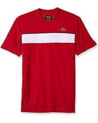 Lacoste - Short Sleeve Jersey Tech Novak Graphic T-shirt, Th3333 - Lyst