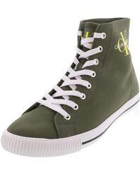 Calvin Klein Jeans Augusto B4S0671 Verde Polacchine Sneakers Uomo Casual