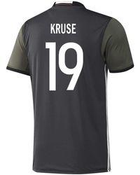 adidas Kruse #19 Germany Away Soccer Jersey Euro 2016 Youth - Black
