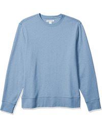 Amazon Essentials Long-sleeve Lightweight French Terry Crewneck Sweatshirt - Blue