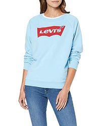 Levi's Relaxed Graphic Crew Sweatshirt - Blau