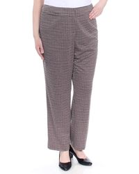 Nine West Plus Size Skinny Houndstooth Pant - Multicolor