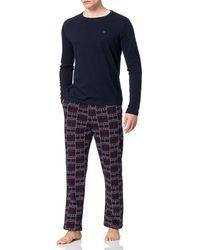Tommy Hilfiger CN LS Pant Jersey Set Print - Multicolor